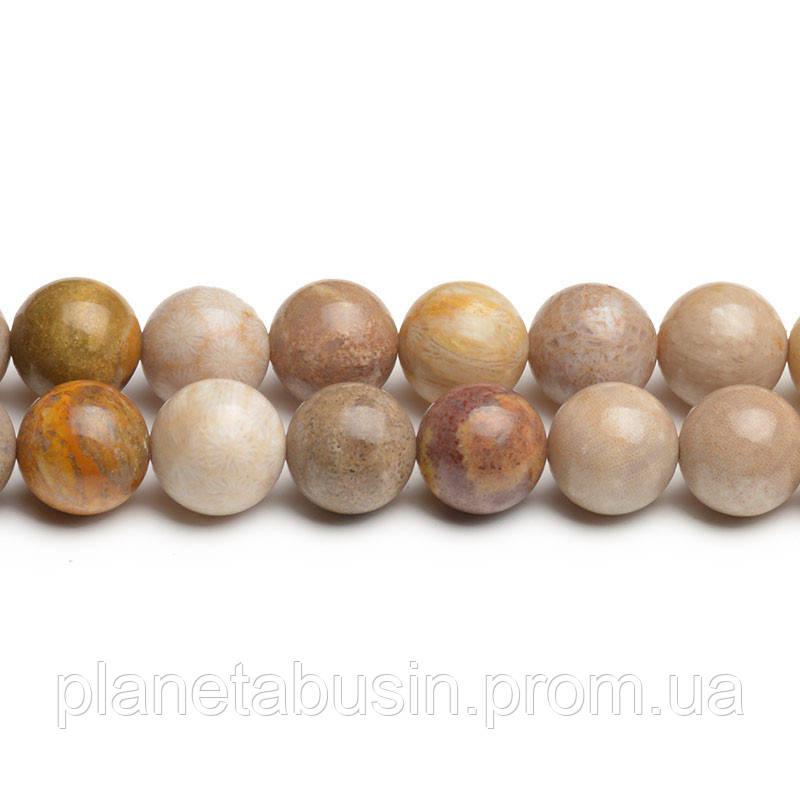 8 мм Индонезийский Коралл АА, CN272, Натуральный камень, Форма: Шар, Отверстие: 1мм, кол-во: 47-48 шт/нить