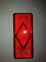Катафот бампера Газель цвет красный на андапка размер 120мм×53мм