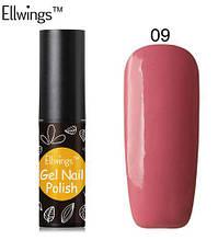 Гель лак Ellwings 09 коралловый, коралловий