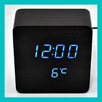 Настольные часы с синей подсветкой VST-872-5