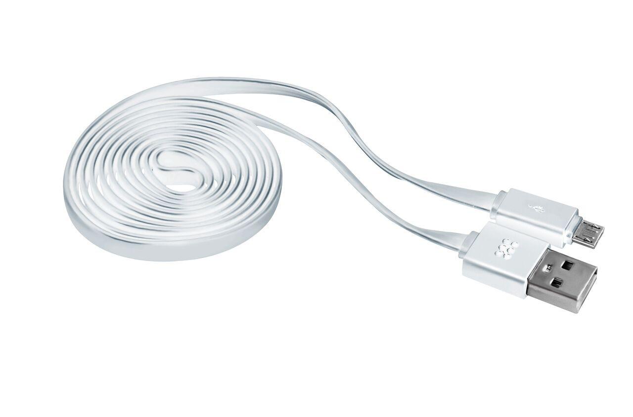 Кабель Promate linkMate-U2F USB-microUSB 1.2 м White
