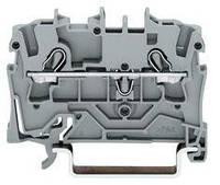 Клемма 2-проводная проходная 4мм2 цвет серый WAGO