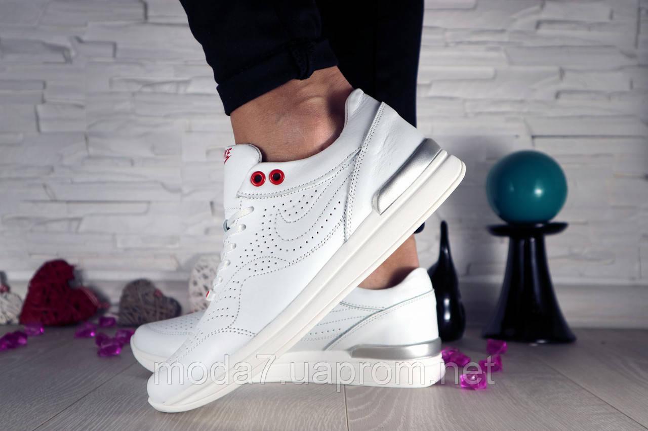 Кроссовки женские белые Nike нат. кожа реплика