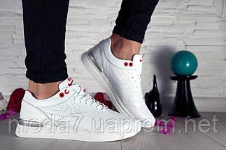 Кроссовки женские белые Nike нат. кожа реплика, фото 2