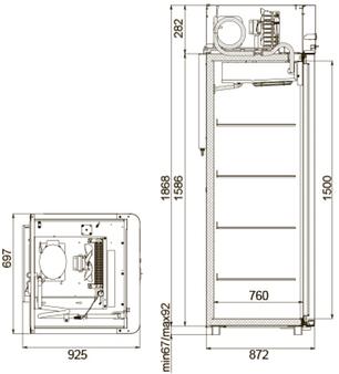 Холодильный шкаф Polair CM107-Sm Alu, фото 2