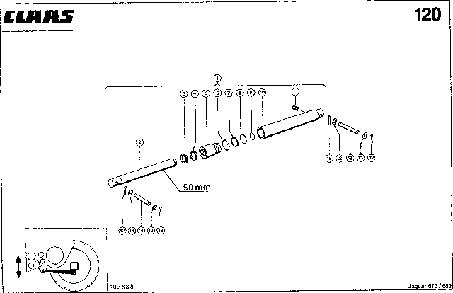 ГИДРОЦИЛИНДР, VAR. 4463 - CLAAS JAGUAR 675