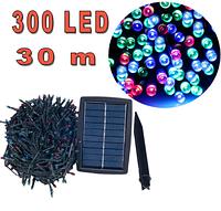 Светодиодная гирлянда на солнечной энергии 300 led RGB 30м, фото 1
