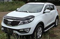 Дефлектор капота (мухобойка) Kia Sportage III SL (киа спортаж/спортейдж 2010-2015)