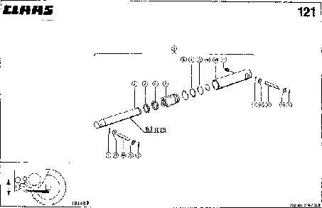 ГИДРОЦИЛИНДР, VAR. 4462 - CLAAS JAGUAR 675