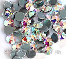 Стразы А+ Premium, Crystal AB SS30 (6,5 мм), термоклеевые. Цена за 1 шт