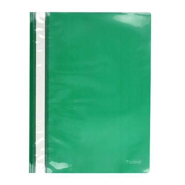 Скоросшиватель Axent А4 зеленый усы, PP (1317-25-A)