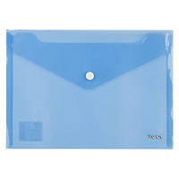 Папка на кнопке Axent А5 прозрачная синяя 1522-22-A