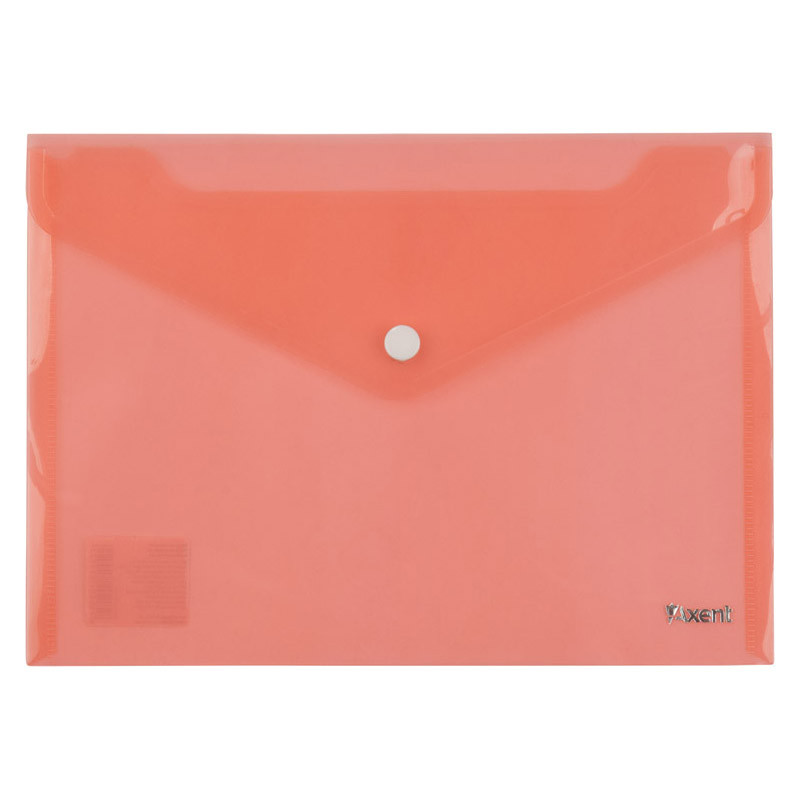 Папка на кнопке Axent А5 прозрачная красная 1522-24-A