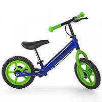 Беговел PROFI KIDS детский 12 д. M 3440B-5 (1шт) колеса EVA, пласт.обод, тормоз,синий