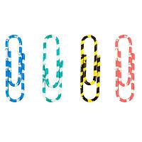 Скрепки 28мм Axent 100шт круглые полосатые цветные (4114-A)