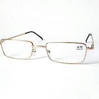 Очки диоптрийные (+ 0.5). Корригирующие, металлические, Fabrika