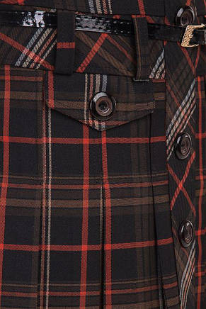 """Красивая демисезонная женская юбка с пуговицами и ремнем """"Бриджит"""", 48-54, фото 2"""