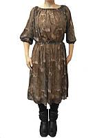 Платье-сетка цвет хаки. Размер универсальный S-L, фото 1