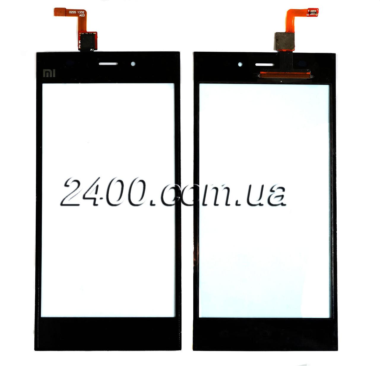 Тачскрин (сенсор) Xiaomi Mi3 телефона черный (black)