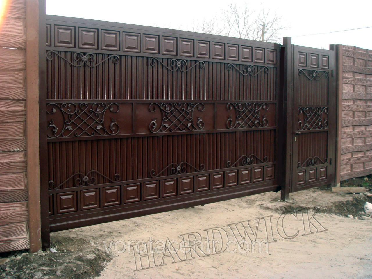 Ворота зсувні, відкатні на отвір 4х2м Hardwick (Україна)
