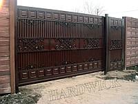 Ворота сдвижные (откатные) на проем 4х2м Hardwick (Украина)