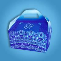 """Коробочка для торта и каравая синяя """"Для дорогих гостей""""  RC-031"""