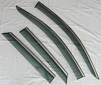 Дефлекторы окон ветровики на PEUGEOT Пежо 3008 / 4008 2016+ ASP с молдингом нержавеющей стали