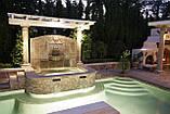 Фонтаны, Водопады и Бассейны из Бетона и Камня. Искусственные Водопады. Облицовка Камнем вокруг Бассейна., фото 9