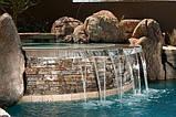 Фонтаны, Водопады и Бассейны из Бетона и Камня. Искусственные Водопады. Облицовка Камнем вокруг Бассейна., фото 10