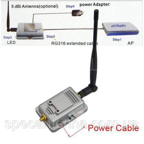 2Вт Wi-Fi репитер усилитель (бустер) 802.11b/g 20 МГц и 40 МГц 2400 МГц - 2500 МГц - фото 8