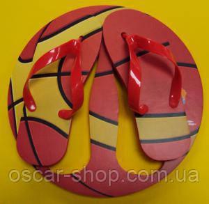Тапки вьетнамки Баскетбольный Мяч (39 р.) + сидушка / Вьетнамки пляжные / Пляжные шлепанцы / опт