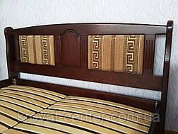"""Деревянная двуспальная кровать с мягким изголовьем """"Афина - 2"""", фото 3"""