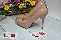 Туфли женские классические   бежевые , фото 1