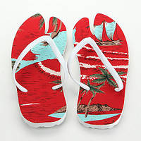 Тапки вьетнамки Лапа цвет красный (38 р.) + сидушка / Вьетнамки пляжные/ Пляжные шлепанцы / опт