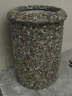 Урна для мусора из природного камня