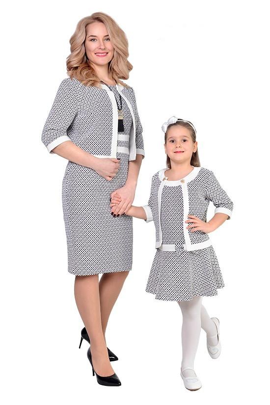 Нарядный комплект мама и дочка