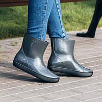 Женские резиновые сапоги (ботинки, ботильоны) Nordman Alida (Алида) серые. Размер 36