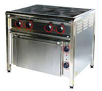 Плита электрическая профессиональная ПЭ-4ШН с духовкой, фото 1