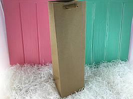 """Крафт пакет под бутылку """"Paper"""" (упаковка 10 шт)"""