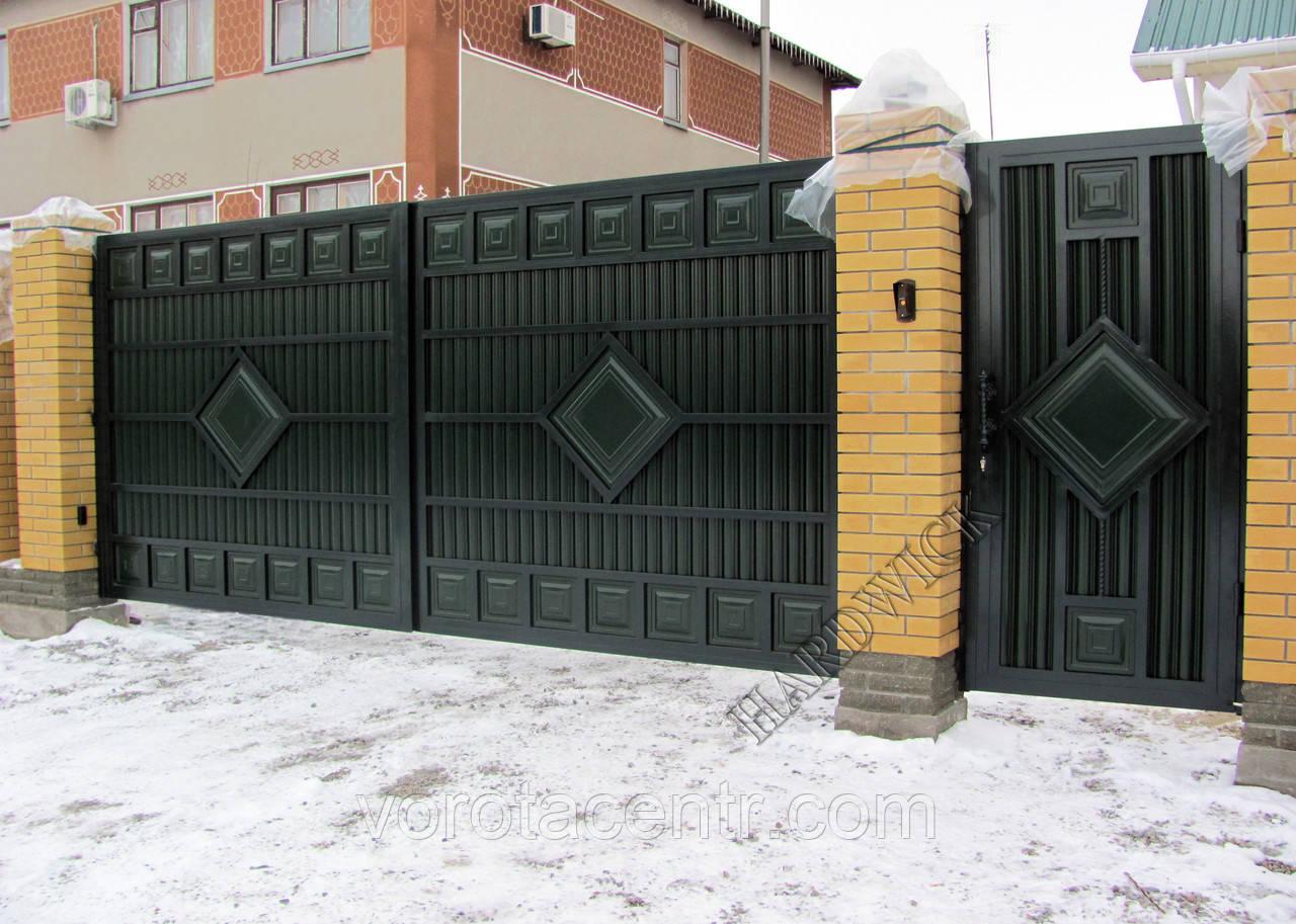 Ворота розсувні на отвір 4х2м Hardwick (Україна)