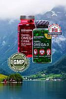 Тройная Оmega3 М+Ж, Норвегия, Концентрированный Рыбий Жир, + Витамины A, E, D, 144 капс. оригинал.
