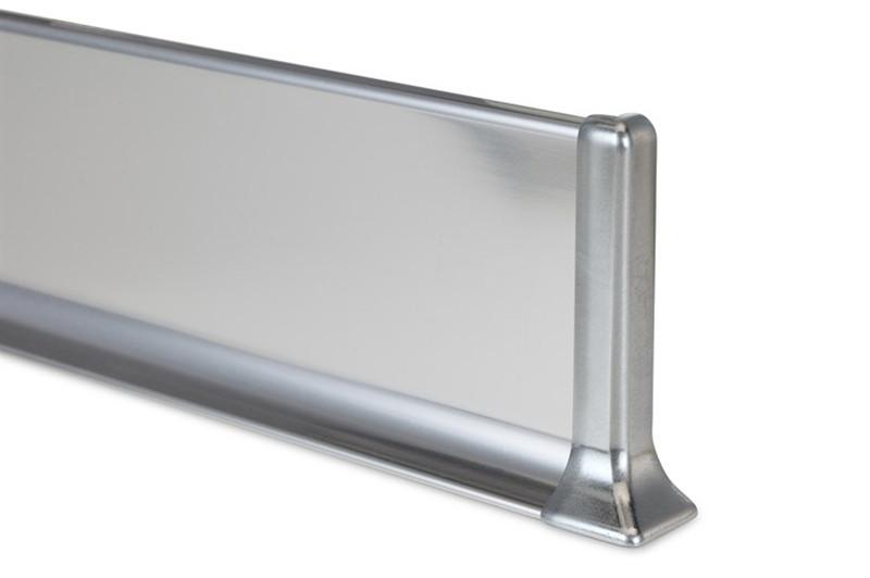 Стальной плинтус из нержавейки Н-50мм. Profilpas Metal line 790 нержавеющая сталь, полированный