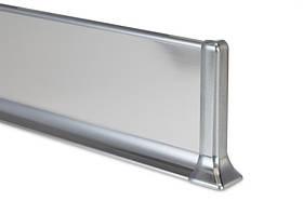 Стальной плинтус из неражавейки Н-40мм. Profilpas Metal line 790 нержавеющая сталь, полированный