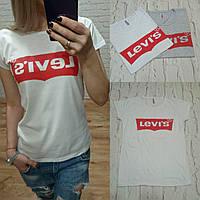 Турция! Стильная женская футболка LEVIS белая S M L
