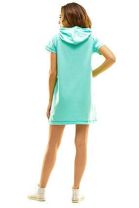 Платье 409 с капюшоном мята, фото 2