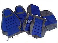 """Чехлы автомобильные ВАЗ 1118 """"Пилот""""(синие) - авточехлы для сидений Lada Калина (комплект)"""