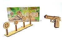 Бесплатная доставка. Деревянный механический конструктор Wood Trick Пистолет М1. Техника сборки - 3d пазл