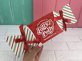 """Складная коробка """"Lolly Polly"""" красная (набор из 12 шт)"""