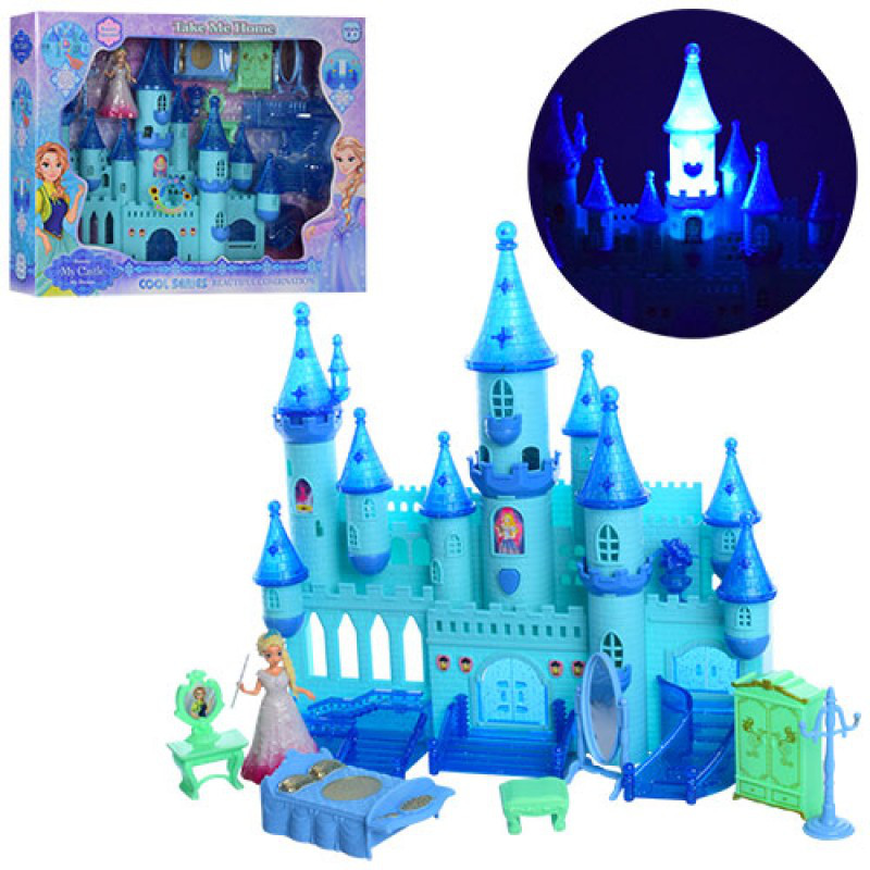 Замок Холодное сердце Frozen Palace светящийся, музыкальный с мебелью и фигурками SG-29004