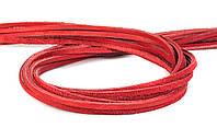 Шнур шкіряний червоний 4 мм